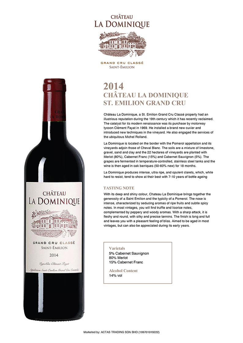 Chateau La Dominique ST.Emilion Grand CRU Taste Note