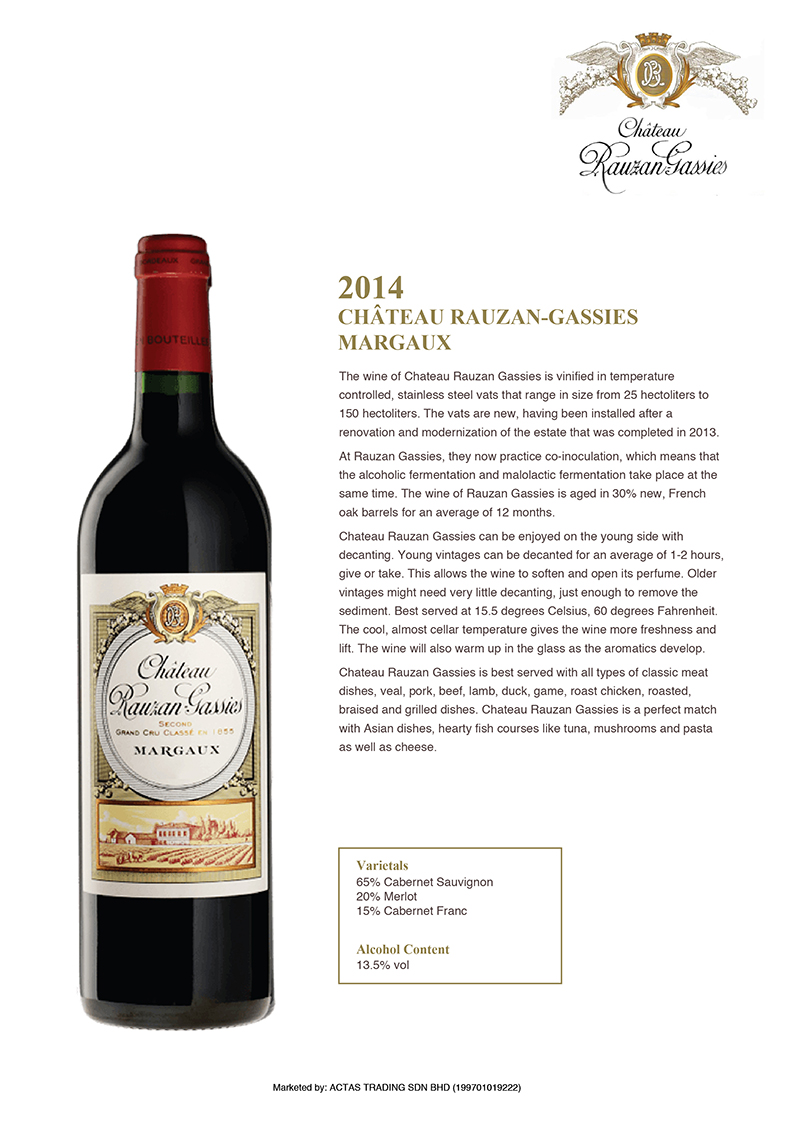 Chateau Rauzan-Gassies Margaux Taste Note