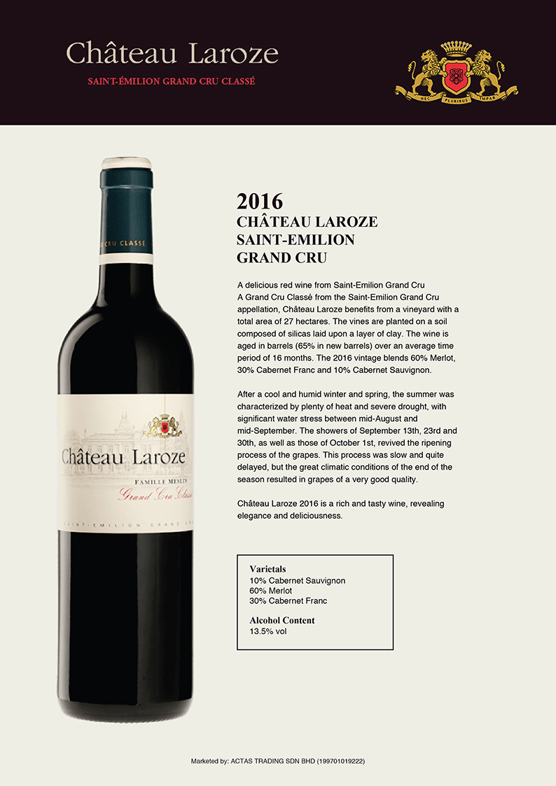 Chateau Laroze ST.Emillion Grand CRU Taste Note