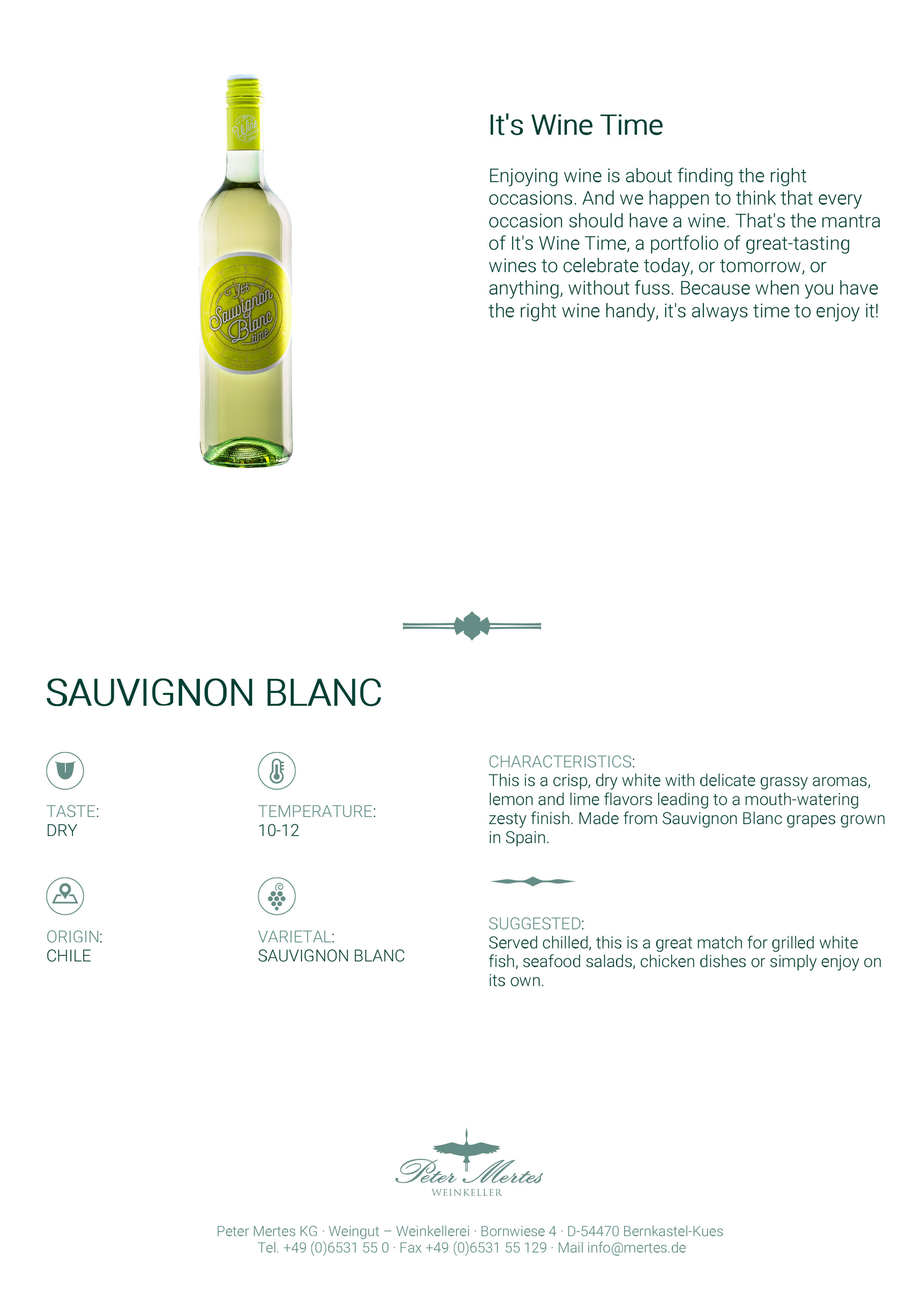 It's Wine Time Sau. Blanc Tasting Note