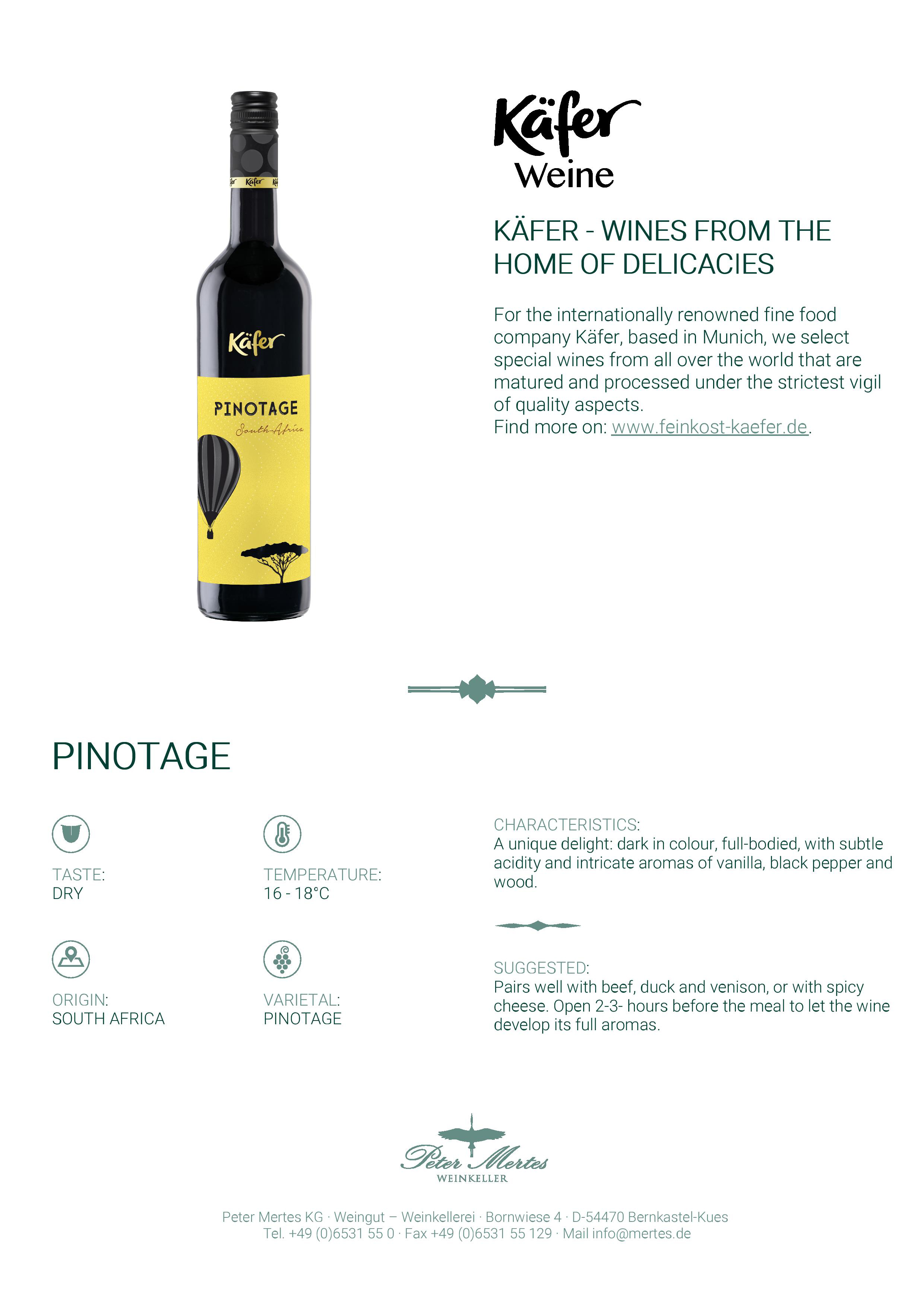 Kafer Pinotage Tasting Note