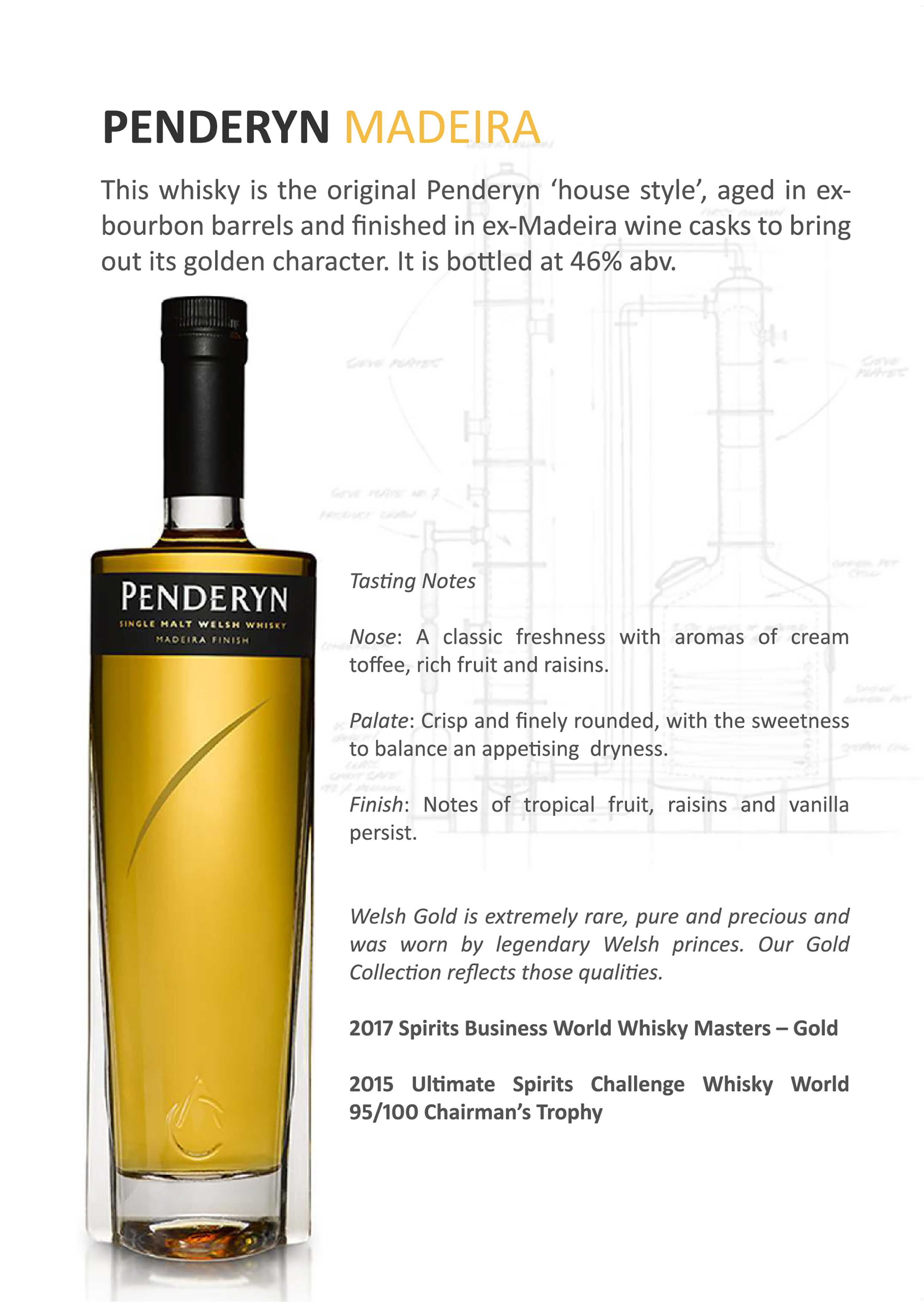 Penderyn Madeira Single Malt Welsh Whisky Tasting Note