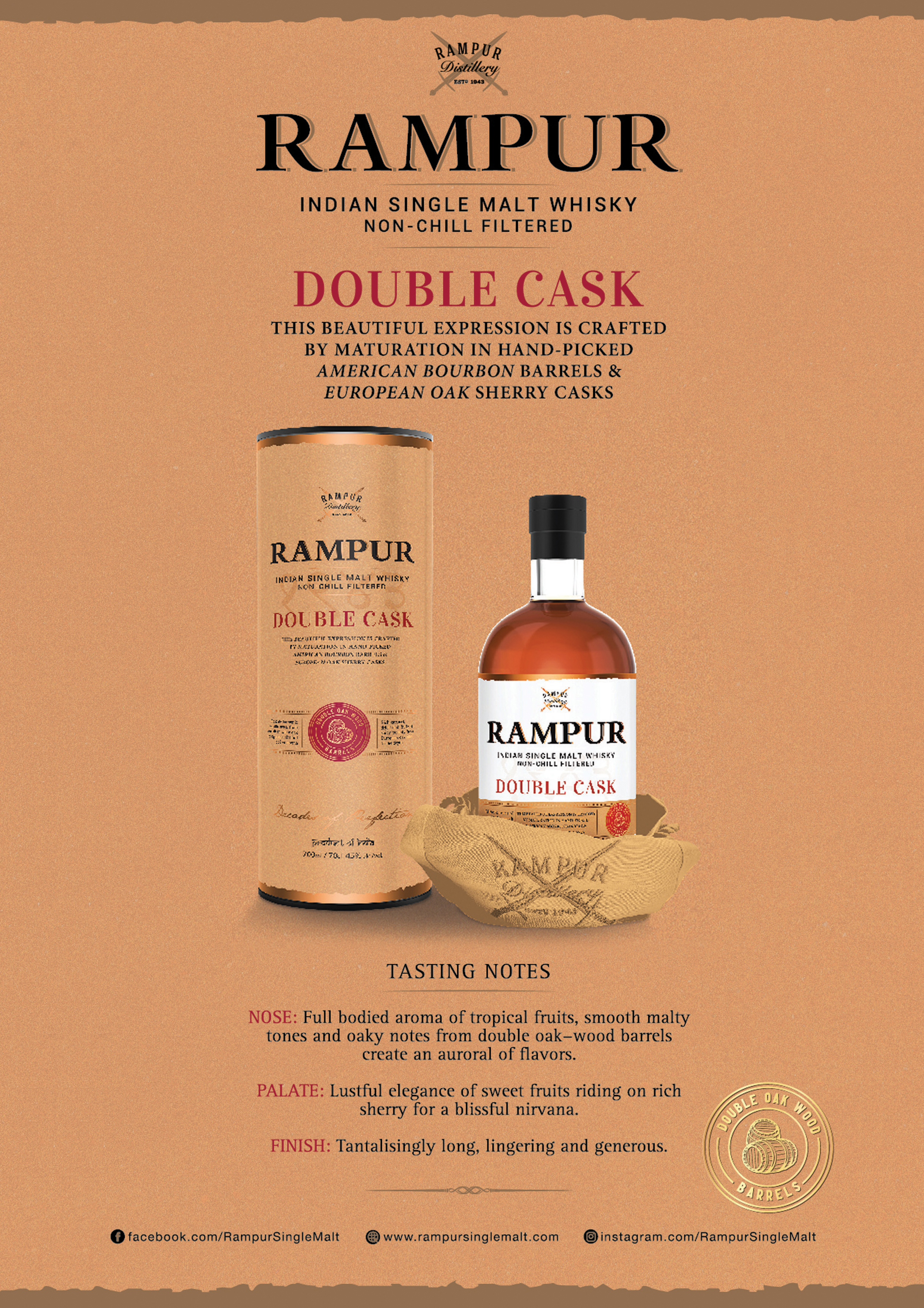 Rampur Indian Single Malt -  Double Cask Taste Note