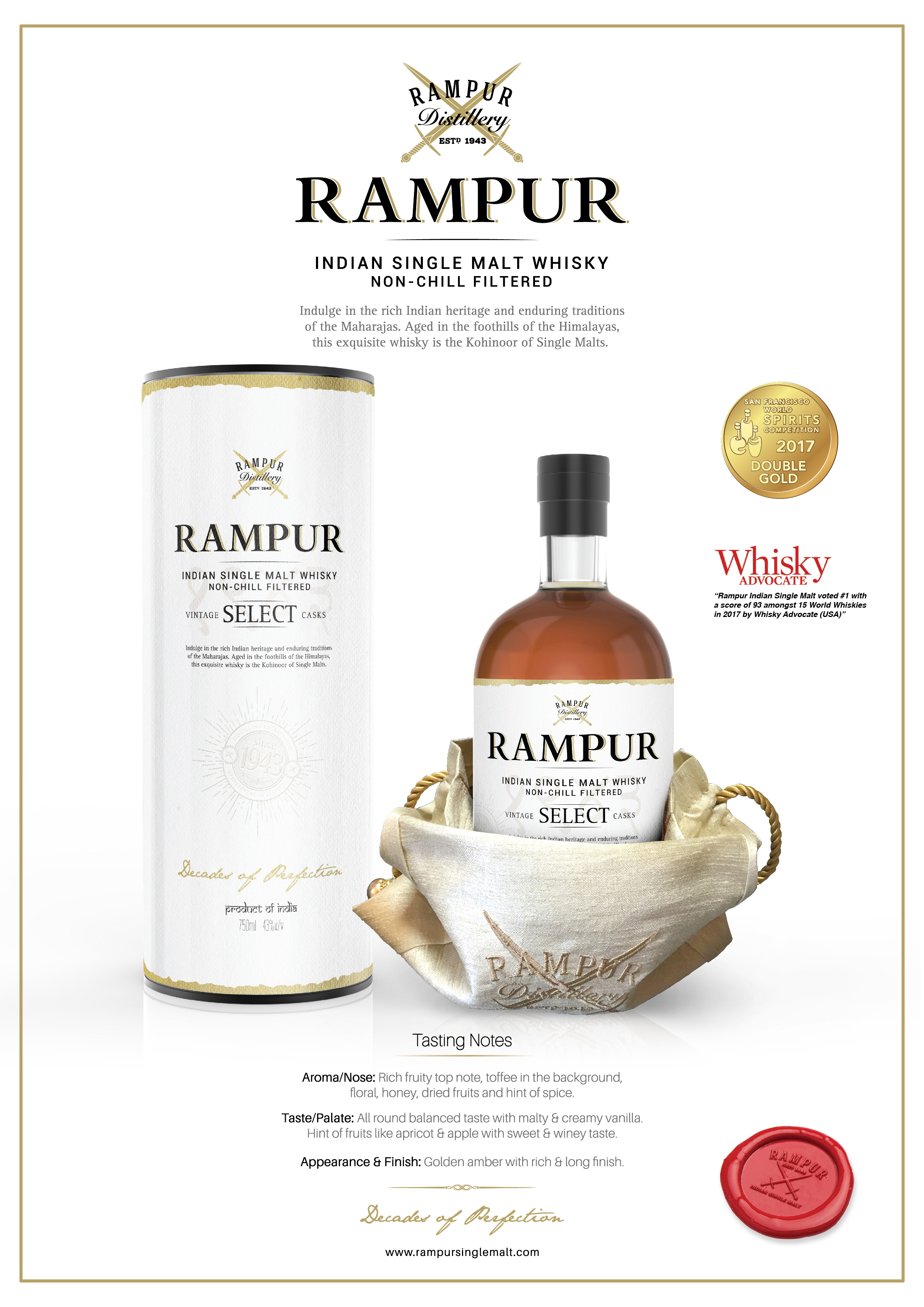 Rampur Indian Single Malt - Select Tasting Note