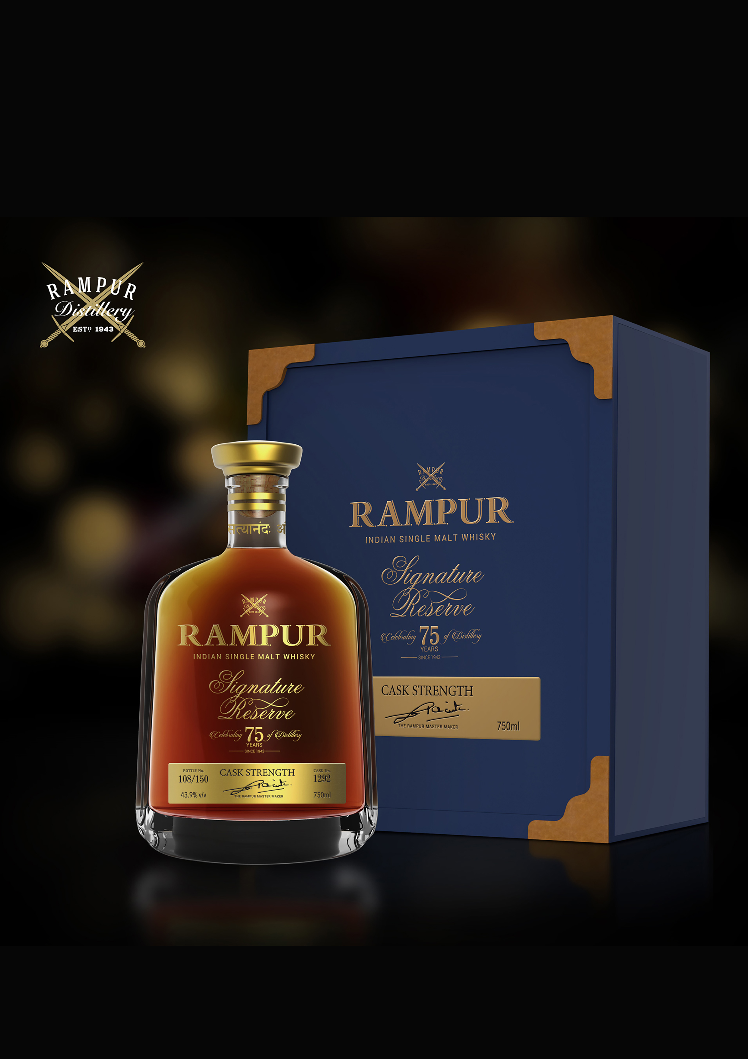 Rampur Indian Single Malt -  Signature Reserve
