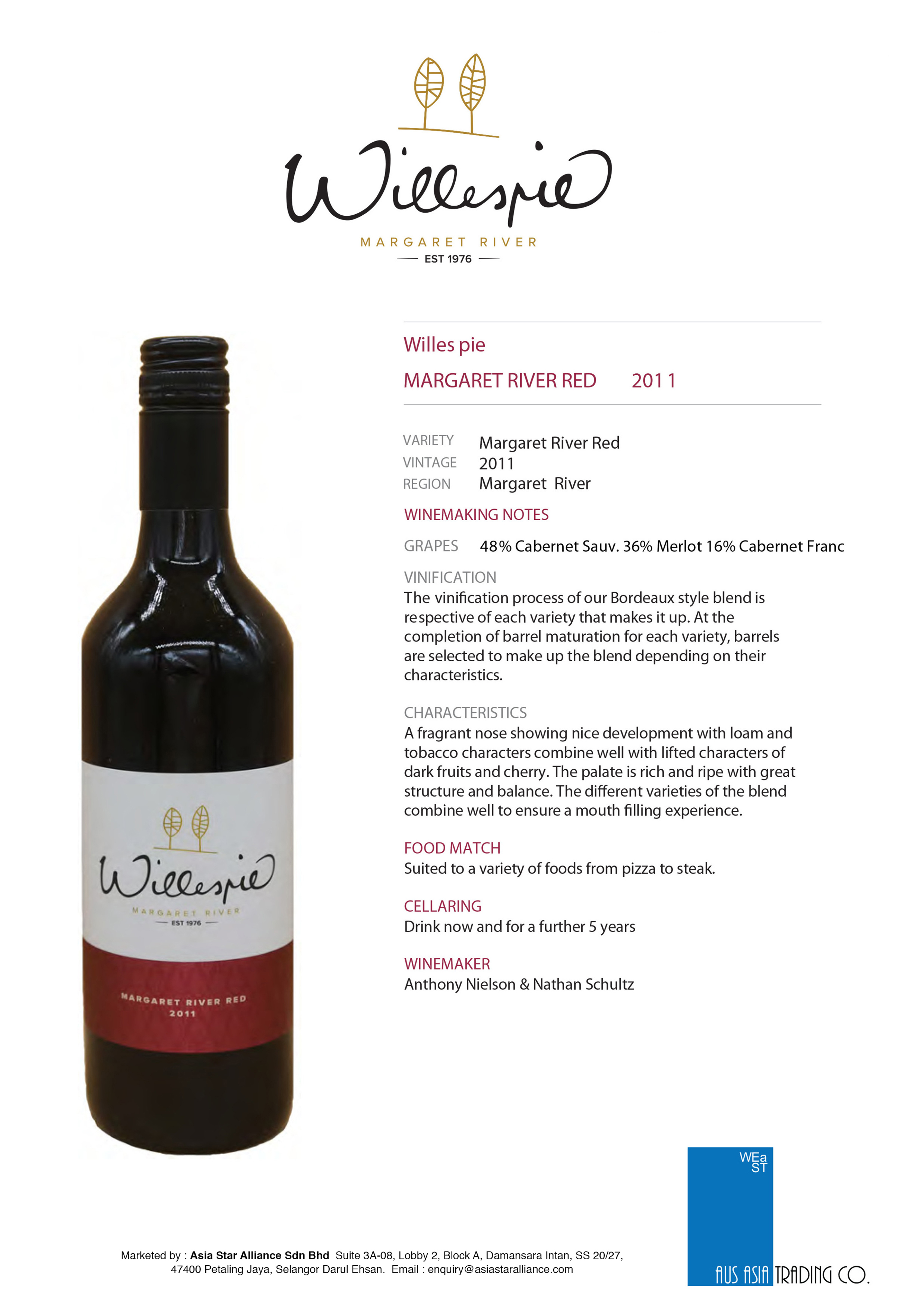 Willespie Magaret River Red Tasting Note